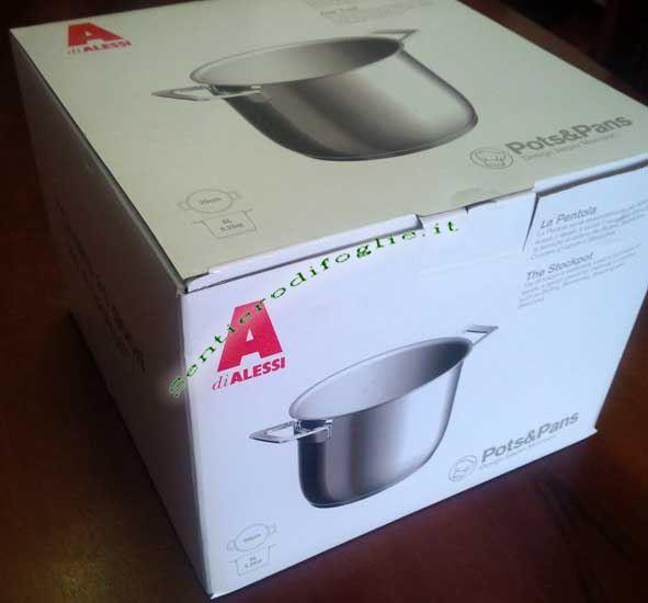 Marmitta Acciaio Inox 18/10 Lucido Pots&Pans Alessi ajm100/20 Cucina Pasta Minestra