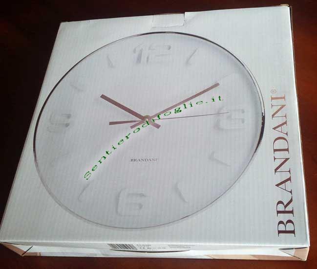 Orologio Lancette Parete Rose Gold Collection Bianco Brandani Numeri Originale