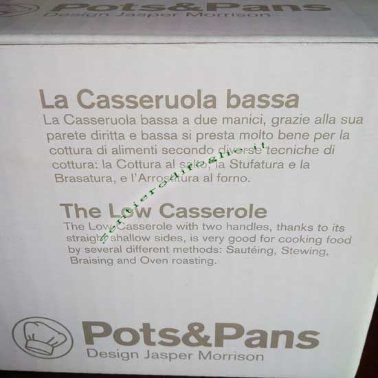 Casseruola Acciaio Inox 18/10 Lucido Pots&Pans Alessi Jasper Morrison ajm102/24