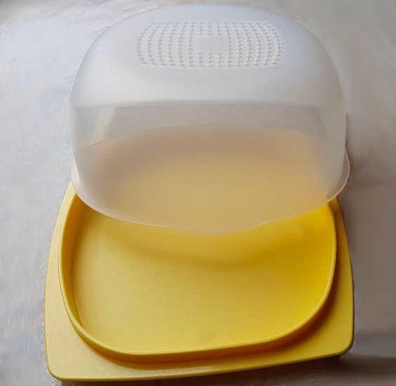 Cheesmart Mini Tupperware Vassoio Porta Formaggi Contenitore Membrana Condens Control