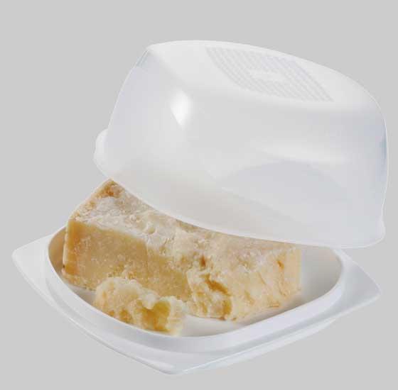 Cheesmart Mini Tupperware Vassoio Portaformaggi Contenitore Sigillo Cupola Trasparente Tavola