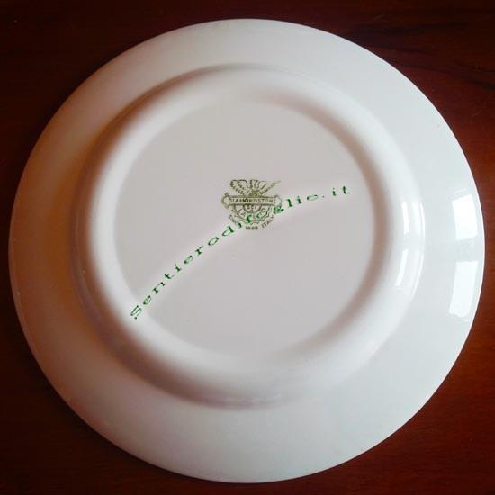 Piatti Ceramiche Smaltate Antichi Diamondstone Laveno Italia Decorati Filo Oro