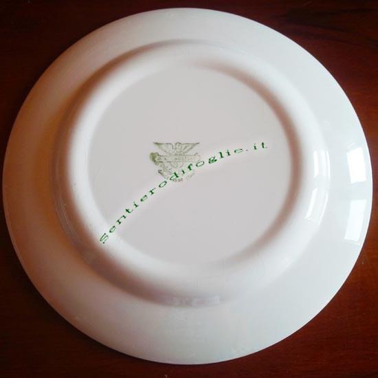 Piatto Ceramica Smaltata Antica Diamondstone Laveno Italia Qualita Logo Verde