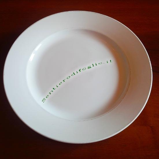 Piatto Ceramica Smaltata Diamondstone Laveno Vintage Italia Marchiato Logo Verde