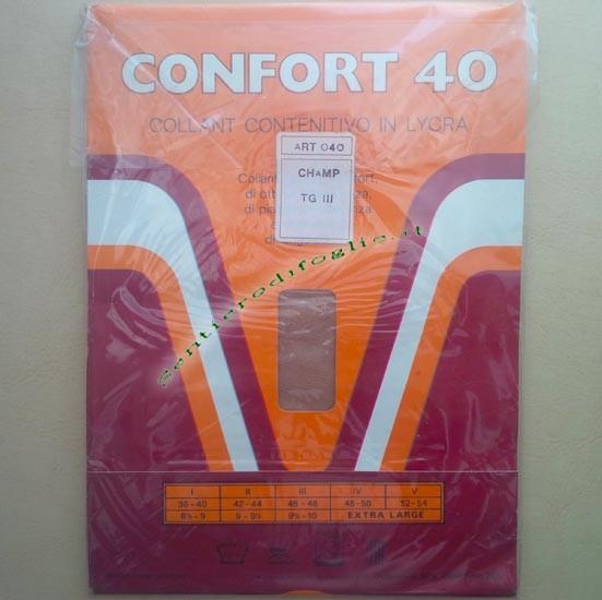 Collant Miva Confort 40 Den Lycra Tg 3 Marroncino Capo Femminile Raffinato Durata Sexy