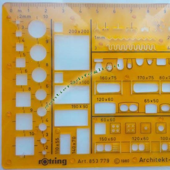 Mascherina Trasparente Arredo Interni Rotring Arancione Progettazione Interni Designer Architetti