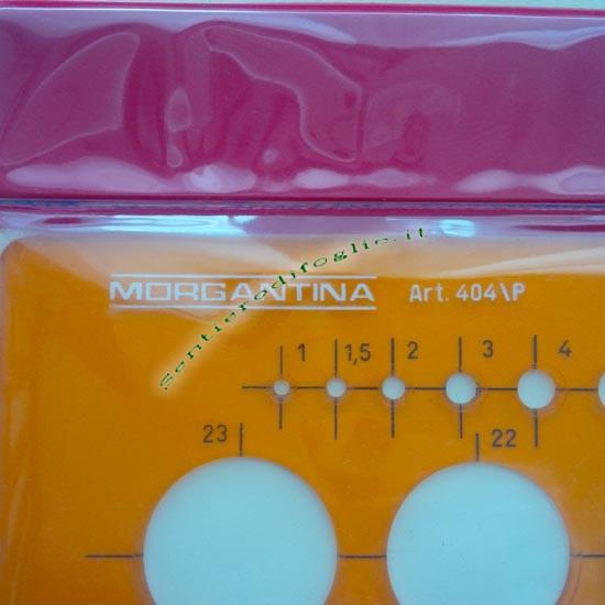 Mascherina Cerchi Morgantina Plastica Arancio Flessibile Trasparente 1mm 36mm Qualita 404/p