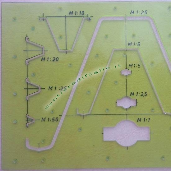 Maschera Casseforme Circolari Paschal Werk Maier Disegno Tecnico Nervature Trapezoidali Verde