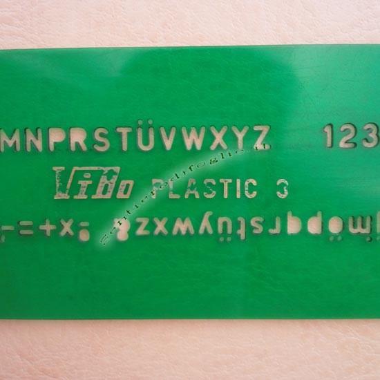 Normografi Lettere Numeri Disegni Tecnici Corsivo Stampatello Verde Vibo 3 mm Testo Laser