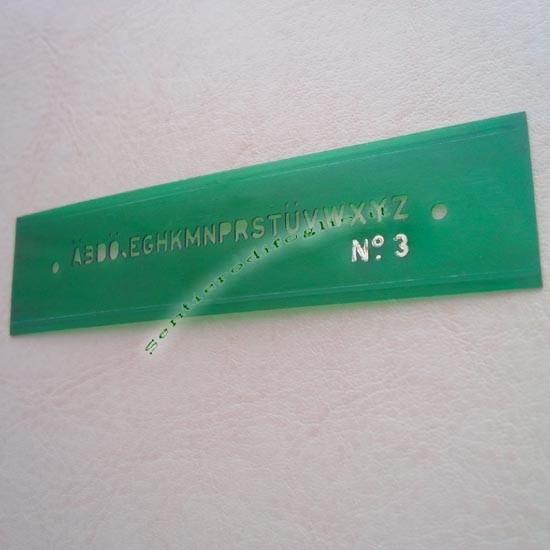 Normografo Maschera Plastica Flessibile Insegnare Scrittura Scuola Studenti Linear 3 mm Testo